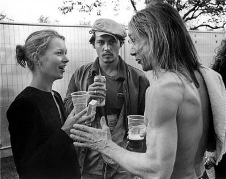 zephyrloveless:  Kate Moss, Johnny Depp & Iggy Pop