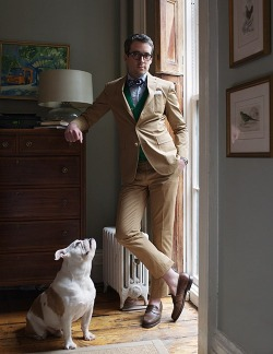 clubmonaco:   Man's Best Friend  Beautiful dogs inspire me. It's that simple. They nudge me to aspire to an ideal…one centered around loyalty and unconditional love. -F.E. Castleberry  Puppy perfection.