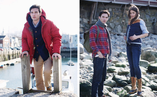 "Penfield Fall / Winter Collection Lookbook ""A visual introduction to our forthcoming Fall/Winter 2011 Collection, our new lookbook ""From Rockport to Cambridge"" takes you through a typical early Winter day in the picturesque state of Massachusetts. This season's collection of dynamic men's and women's outdoor apparel continues to symbolize the quality and heritage of Penfield's early years, featuring a rich autumnal color palette of original 70's color hues that further cement our overall philosophy of fusing fashion with function. Shot on location by F.E. Castleberry (UNABASHEDLY PREP) and styled by Christine Mitchell (N'EAST STYLE) and Branden 'Skip' Brooks (ALEX GRANT), we invite you to take a closer look at ""From Rockport to Cambridge"" for a superior take on 'Life in the Open'."" Girl in bean boots. So new england and so much love"
