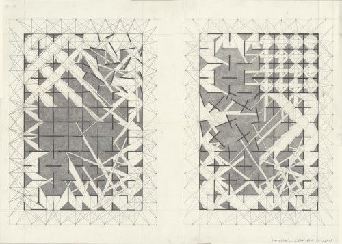 drawingarchitecture:  Structure A_light study_plan drawing by Maja Knochenhauer