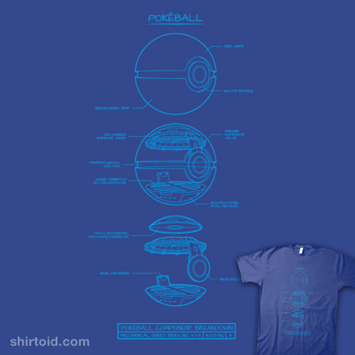 shirtoid:  Pokéball Schematic available at BustedTees