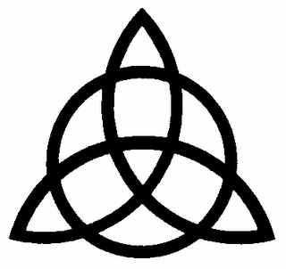 basiumexmortuus:  Triquetra  Originating from the Celtic traditions, it represents the three faces of the Great Mother, the creative energy of the universe, whose three sides are the Virgin, Mother and Crone. It also represented the seasons, which was formerlydivided into three phases, spring, summer and winter. The triquetra, triquætra in Latin, is similar to a tríscele and can be interpretedas a representation of the infinite in three dimensions or eternity.It was a very common symbol in Celtic civilization because of its enormouspower of protection. Found inscribed on rocks, helmets and armor for war, was interpreted as the interconnection and interpenetration of the physical, mental and spiritual.The circle in the middle, like the pentagram, representing the perfection andprecision.Plagiarized by Christianity, this symbol came to represent the Christian Trinity,the Father, Son and Holy Spirit.
