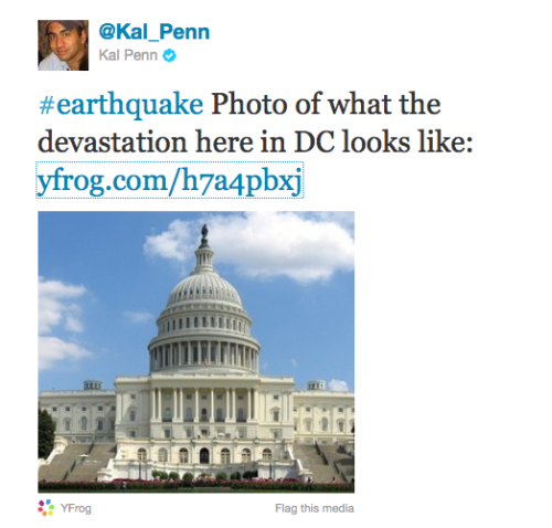 Kal Penn tweets the DC Devastation