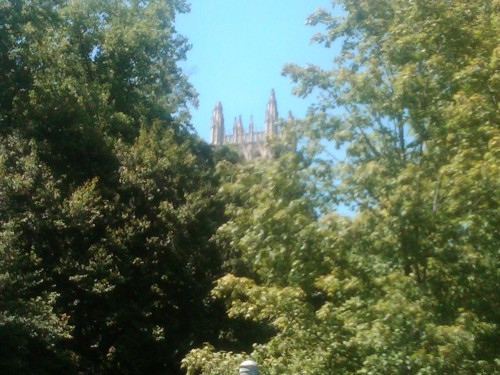 So a bit of a spire at the National Cathedral fell off. Look closely. Latest on the quake is here. Photo by Laura Blumenfeld