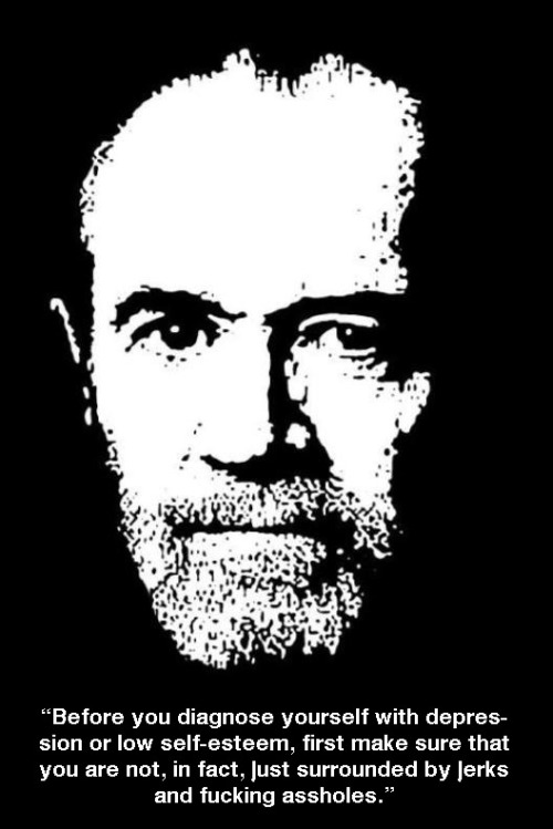 thecomedystore:  George Carlin on Depression