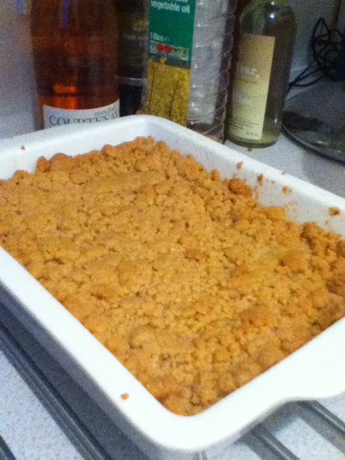 Homemade apple crumble!