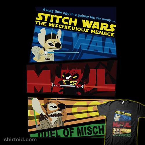 shirtoid:  STITCH WARS: The Mischievious Menace available at RedBubble
