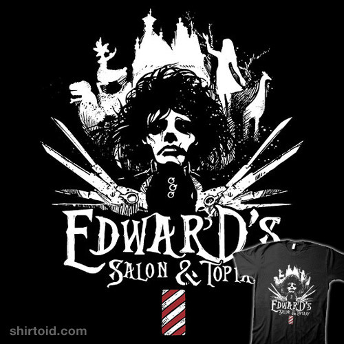 shirtoid:  Edward's Salon and Topiary available at RedBubble