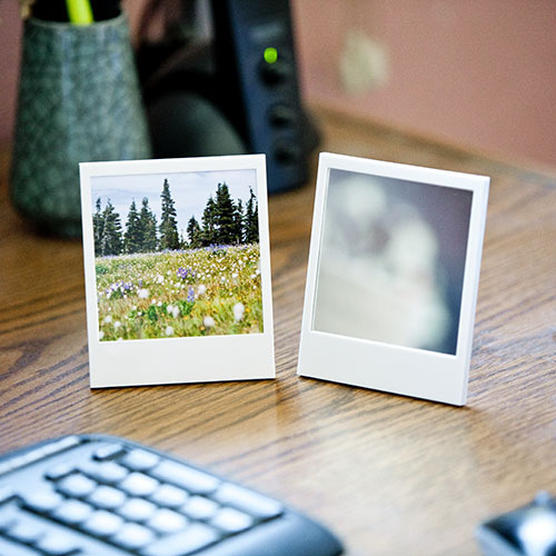 Polaroid frames that double duty as mirrors from our pals at Petapixel!