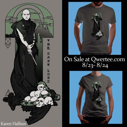 "karenhallion:  On sale at Qwertee.com for 48 hours only! An homage to Alphonse Mucha's ""Medee"" painting, with a Harry Potter twist. http://qwertee.com/product/rise-of-the-purebloods/"