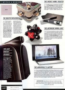 "The Qumi is featured in the Sept. 2011 issue of Men's Journal. It's one of the magazine's 59 ""Perfect Things"" - check out the issue on newsstands now."