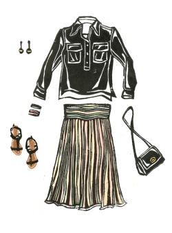 Missoni skirts are the best! Illustration by Lis Sartori (www.lissartori.com)