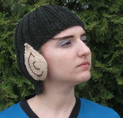Hand-knitted Spock beanie is… fascinating Well technically, the creator of this fashion statement, Five Corners Design, calls it a toque, but I'm not a damn dirty Canadian. Actually, where I'm from, we would call it a tobogan, but then up north, a tobogan is a sled, not something you wear on your head. Etsy link Via