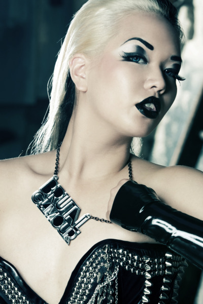 Promo photo for my upcoming A is for Arsenic jewellery range. Read about the shoot on my blog Destroyx.com. Photography by Steve Prue www.teamrockstarimages.com Hair by Kristin Jackson www.kristinjacksonhair.com Spiky Corset by Veritee Hill www.veriteehill.com MUA & Styling by Amelia Arsenic (me!) www.destroyx.com Makeup provided by Miss X Aesthetic Labs (www.miss-x.net) and Sugarpill (www.sugarpill.net) Latex gloves by Lady Lucie www.ladylucie.com All jewellery by A is for Arsenic London www.aisforarsenic.com