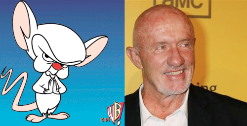 phatjesus:  Mike from Breaking Bad looks a lot like Brain from Pinky and the Brain