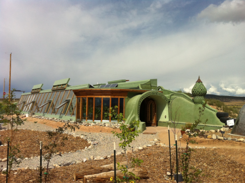Earthship in New Mexico. Got a tour inside. Someone is building one of these in Manhattan right now!