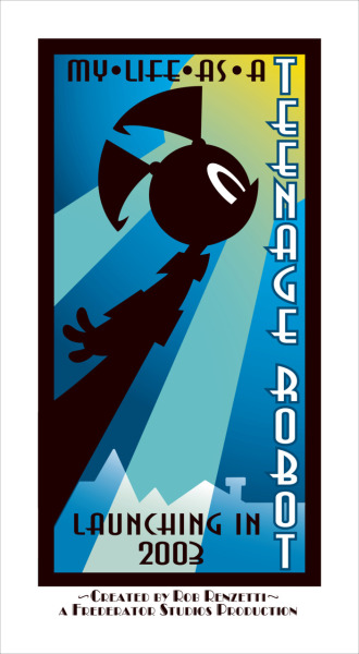esilesonia:  My Life as a Teenage Robot had some really striking promotional art. I was always fond of the animation style for this show.