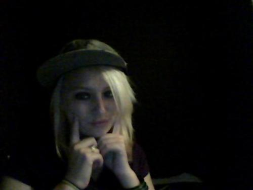 Im attached to his hat because it smells like him.