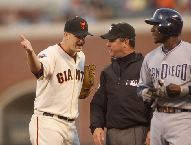 triplesalley:  Matt Cain ain't havin' it.   Cainer pissed. Hardly ever see that.