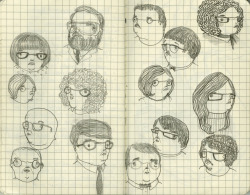 some faces from my sketchbook.  2011, graphite © Mai Ly Degnan