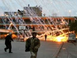 "madeinnablus:  This is White Phosphorus being used on civilians in Gaza in the 2008 Israeli offensive against the Gazan population. White Phosphorus:   Amnesty International delegates currently in Gaza have found indisputable evidence of the widespread use of white phosphorus in densely populated residential areas in Gaza City and in the north. Christopher Cobb-Smith, a weapons expert who is in Gaza as part of a four-person Amnesty International fact-finding team, said: ""Yesterday, we saw streets and alleyways littered with evidence of the use of white phosphorus, including still burning wedges and the remnants of the shells and canisters fired by the Israeli army. ""White phosphorus is a weapon intended to provide a smokescreen for troop movements on the battlefield. It is highly incendiary, air burst and its spread effect is such that it that should never be used on civilian areas.' Amnesty International Israel and the Occupied Palestinian Territories researcher Donatella Rovera said: 'Such extensive use of this weapon in Gaza's densely populated residential neighbourhoods is inherently indiscriminate. Its repeated use in this manner, despite evidence of its indiscriminate effects and its toll on civilians, is a war crime.' White phosphorus wedges are scattered all around residential buildings and many were still burning on Sunday, further endangering the residents and their property; streets and alleys are full of children playing, drawn to the detritus of war and often unaware of the danger. Christopher Cobb-Smith added: ""Artillery is an area weapon; not good for pinpoint targeting. The fact that these munitions, which are usually used as ground burst, were fired as air bursts increases the likely size of the danger area.' Each 155mm artillery shell bursts, deploying 116 wedges impregnated with white phosphorus that ignite on contact with oxygen and can scatter, depending on the height at which it is burst (and wind conditions), over an area at least the size of a football pitch. In addition to the indiscriminate effect of air-bursting such a weapon, firing such shells as artillery exacerbates the likelihood that civilians will be affected. Amnesty delegates found both burning white phosphorous wedges and their carrier shells (which delivered them) in and around houses and buildings. Some of these heavy steel shells have caused extensive damage to residential properties. Among the places worst affected by the use of white phosphorus was the UNRWA compound in Gaza City, where Israeli forces fired three white phosphorus shells on 15 January. The white phosphorus landed next to some fuel trucks and caused a large fire that destroyed tons of humanitarian aid. Prior to this strike the compound had already been hit an hour earlier and the Israeli authorities had been informed by UNRWA officials and had given assurance that no further strikes would be launched on the compound. In another incident on the same day a white phosphorus shell landed in the al-Quds hospital in Gaza City also causing a fire that forced hospital staff to evacuate the patients. White phosphorus landing on skin can burn deep through muscle and into the bone, continuing to burn unless deprived of oxygen.   Considering that Israel admitted back in 2009 that it used white phosphorous during the 2008 conflict in Gaza, why is this Amnesty International story such a big deal now? Are they trying to stir up anti-Israeli sentiment ahead of the September UN Palestinian vote or are they just so incompetent that they only just now came to the conclusion that WP was used over three years ago? Either way, this is old news."