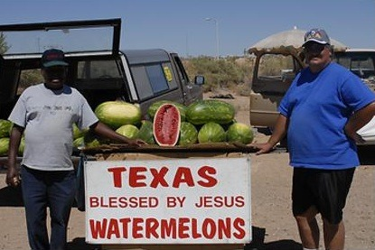 jesusislove:  christiannightmares  Texas watermelons blessed by Jesus (Found at Jesus Needs New PR)