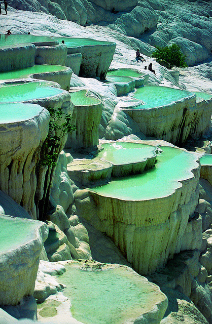 atelierve:  Natural pools. Pamukkale, Turkey.  (by Exodus Travels)