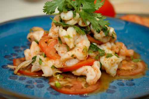 Check this out! Grilled Shrimp Salad (from the Gulf).  As I have already mentioned, I moved to New Orleans about a month ago. This was one of the first few dishes that I made with the shrimps from the gulf of Mexico. I'm looking forward to share this simple recipe with you soon!  -Lalita