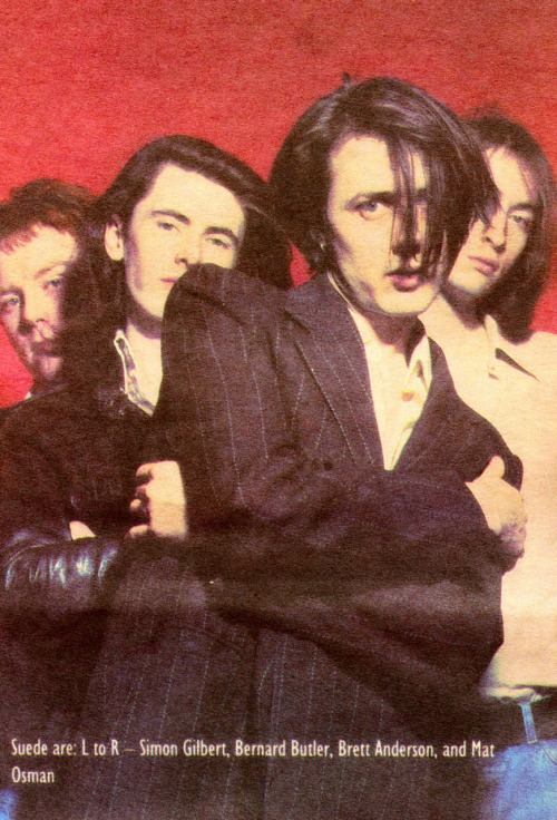 Suede, Melody Maker, 1992.  Photo: Tom Sheehan
