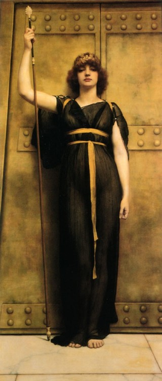 labellefilleart: A Priestess, John William Godward
