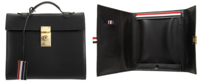 Thom Browne iPad Case This is one of the most elegant looking cases i've seen for ipads. It actually makes me want to go out and buy an iPad just for this. Great detail is put into this case with soft leather material and several pockets on the interior. Nice work.