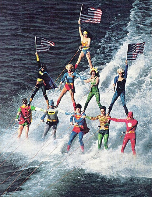 eileenede:  Superheroes Take a Holiday!