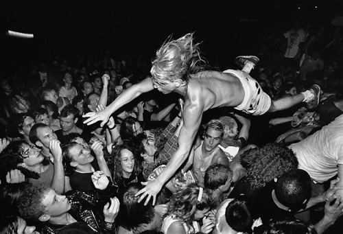 fantomlimbs:  Stage Diver at a Nirvana Gig Photographer - Charles Peterson