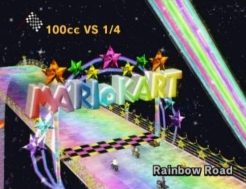 Fuck Rainbow Road! Fuck it right in the ass!