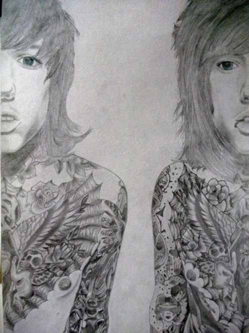 oliversykes:  SUBMISSION: my tumblr best friend Lauraine's drawing of Oli sykes :D i think its amazing <3her URL is thedreamfromnightmare.tumblr.com :3