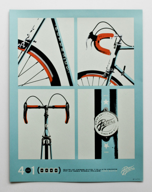 dp-illustrations:  2011 Artcrank poster Retro bike poster, designed by Allan Peters. posted bydp{i}//facebook//twitter//google+