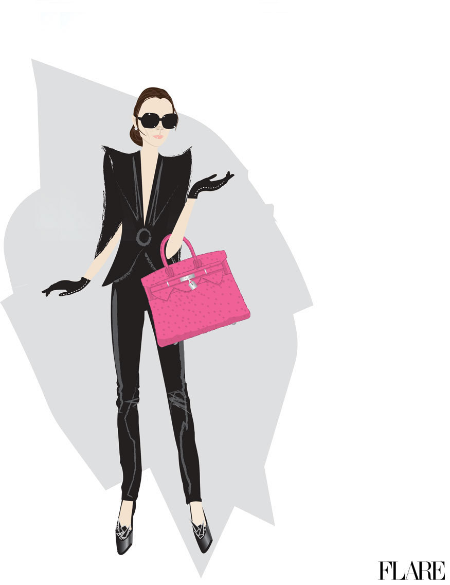 Victoria Beckham - April 2011 / Illustrator: Don Oehl Click here to read why Victoria Beckham is being restricted to flats for New York Fashion Week.