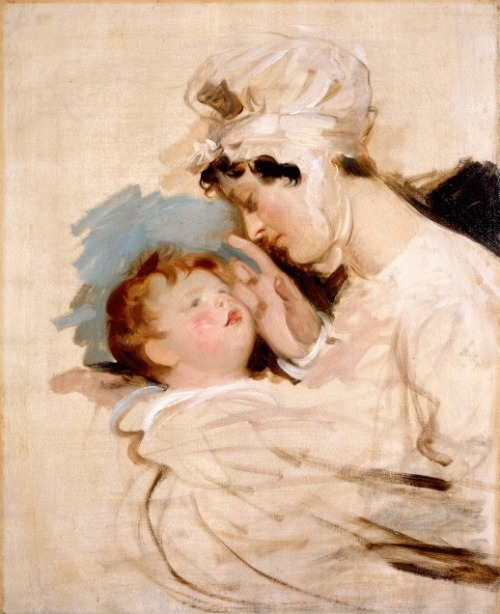 Portrait of a Mother and Child, 1810. This is beautiful- anyone know the artist? EDIT:  By Sir Thomas Lawrence.  Thank you,  http://asandydenimpersonne.tumblr.com/