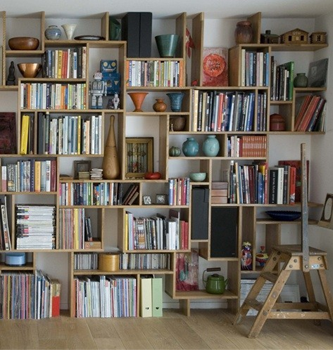idpaste-up:  I love full wall bookcases