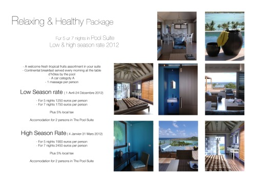 Relax Package -Pool suite-