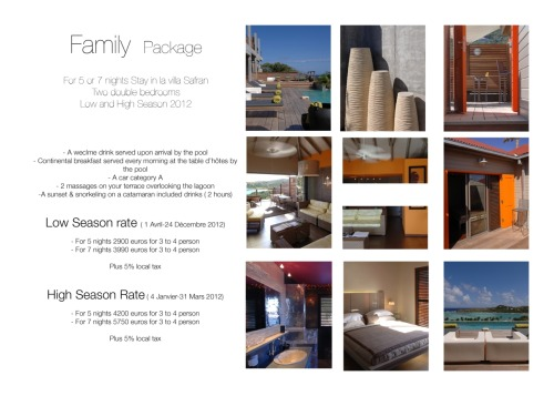 Family Package - Villa Safran - 2 double bedrooms