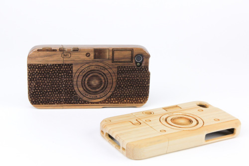 Wooden Iphone 4 Camera Case by Photojojo