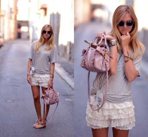 Lace, stripes and bows (by Chiara Ferragni)