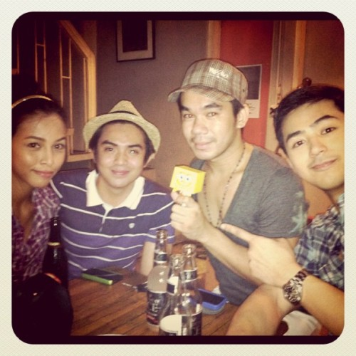 Sponge Bob To-Fu with Diva Montelaba, Sef Cadayona, Mark Dela Cruz, & Enzo Pineda (Taken with instagram)