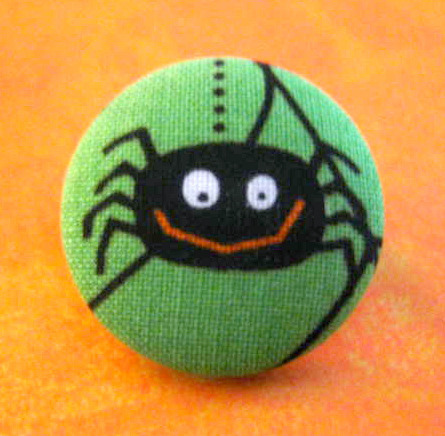 Halloween spider button brooch pin Jewelry on Flickr.