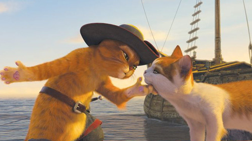 Puss In Boots gets a cute new motion poster Courtesy of Fandango, here is a brand new motion poster for the upcoming Puss In Boots movie.Directed by Chris Miller and seeing Antonio Banderas return to voice the Zorro-esque fairytale kitty, Puss explains what the character did before he met Shrek and co in the first place, as he tries to steal a goose that lays golden eggs. Check out the cutesy poster here…
