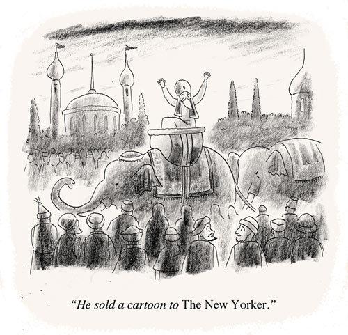 (via How Hard Is It To Get a Cartoon Into The New Yorker? - By James Sturm - Slate Magazine) James Sturm writes about his experiences drawing and submitting cartoons to the New Yorker.