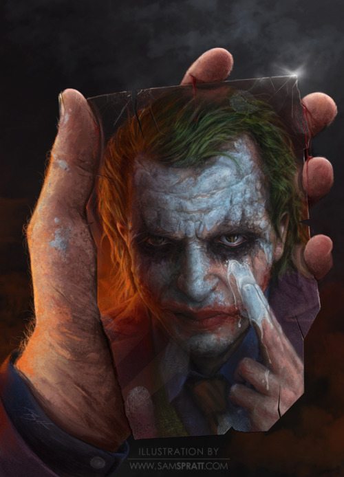 "samspratt:  ""The Joker"" - Portrait Painting by Sam Spratt"