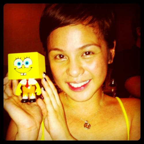 Sponge Bob To-Fu with Ms. Nikki Valdez (Taken with instagram)