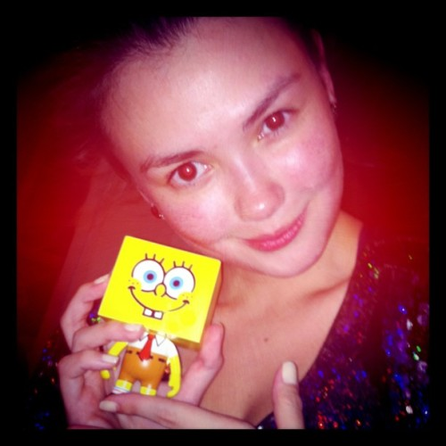Sponge Bob To-Fu with Ms. Angelica Panganiban (Taken with instagram)